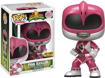Funko POP! Vinyl Hot Topic Exclusive Metallic Pink Power Ranger